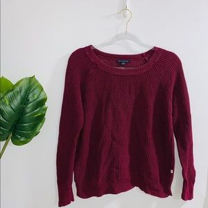 🦋 4/$30 American Eagle Burgundy Knit Long Sleeve